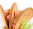 Moscatelli Gerkins Peperlizia with ham mousse on whole wheat crackers