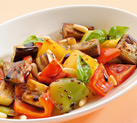 Peppers and aubergines with pine seeds and Balsamic Vinegar of Modena Ponti
