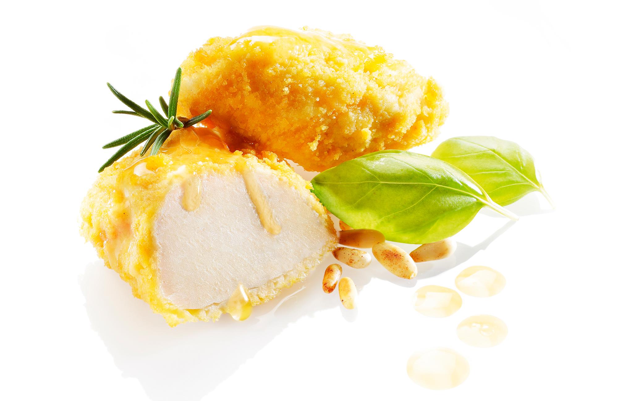 Bocconcini di pollo ai pinoli