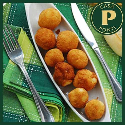 Crocchette di patate e gamberi allo zenzero con Aceto Balsamico di Modena IGP Ponti