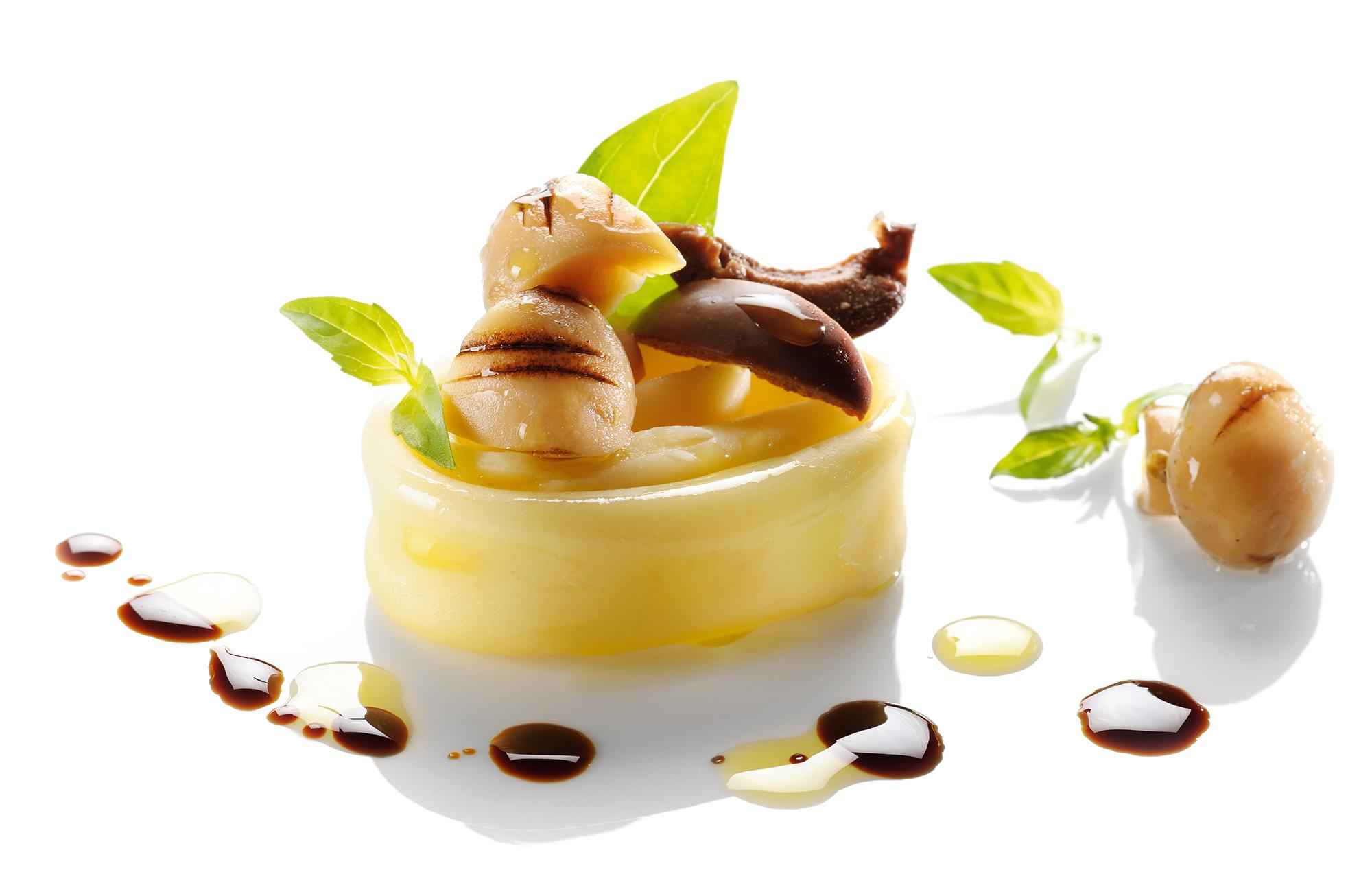 Insalata di pasta con Funghi Prataioli Grigliati Zero Olio, Olive Verdi Giganti e basilico