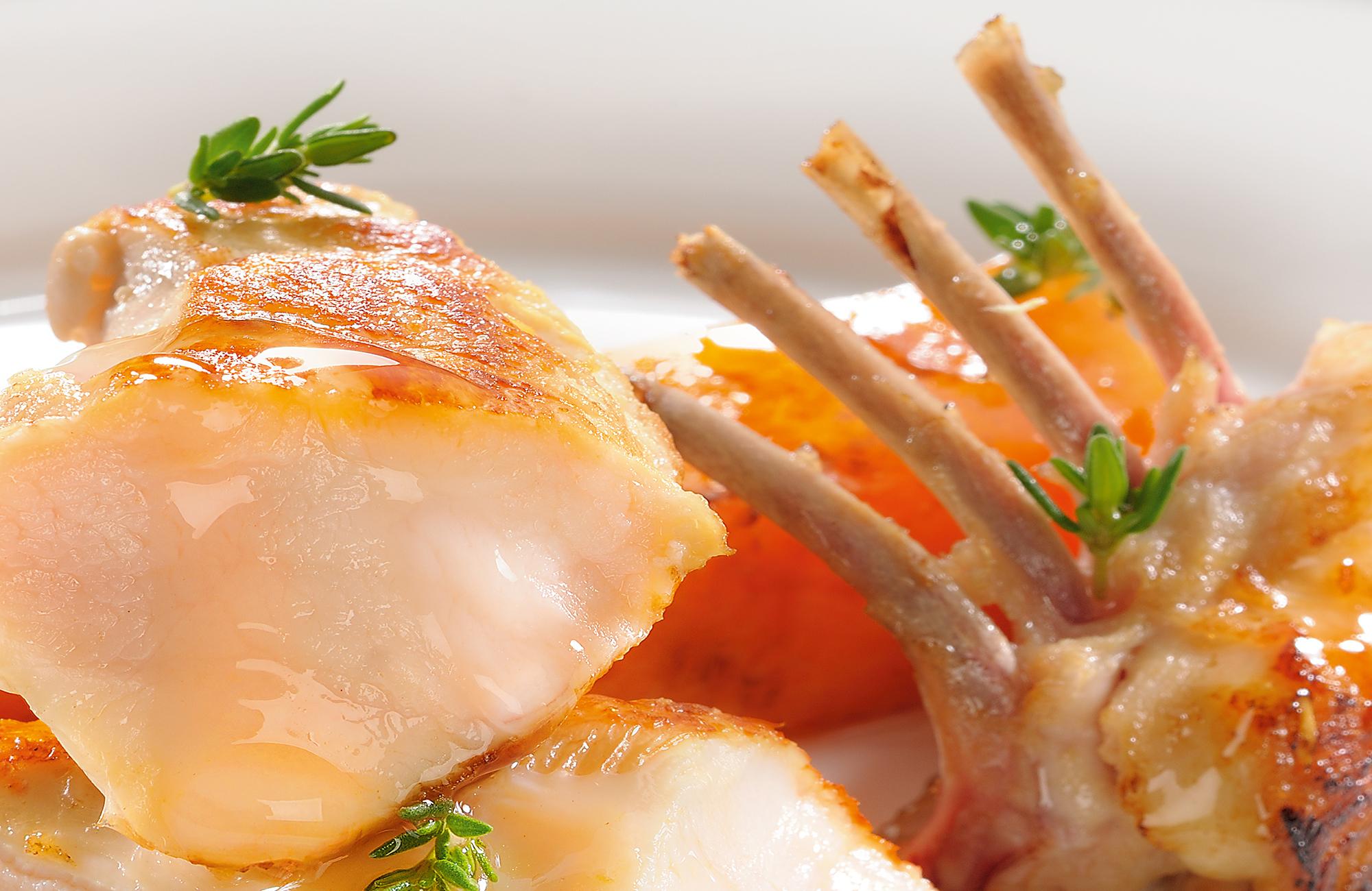 Lombata di coniglio rosolato al timo con Glassa Gastronomica Ponti al Mosto di Uve di Moscato