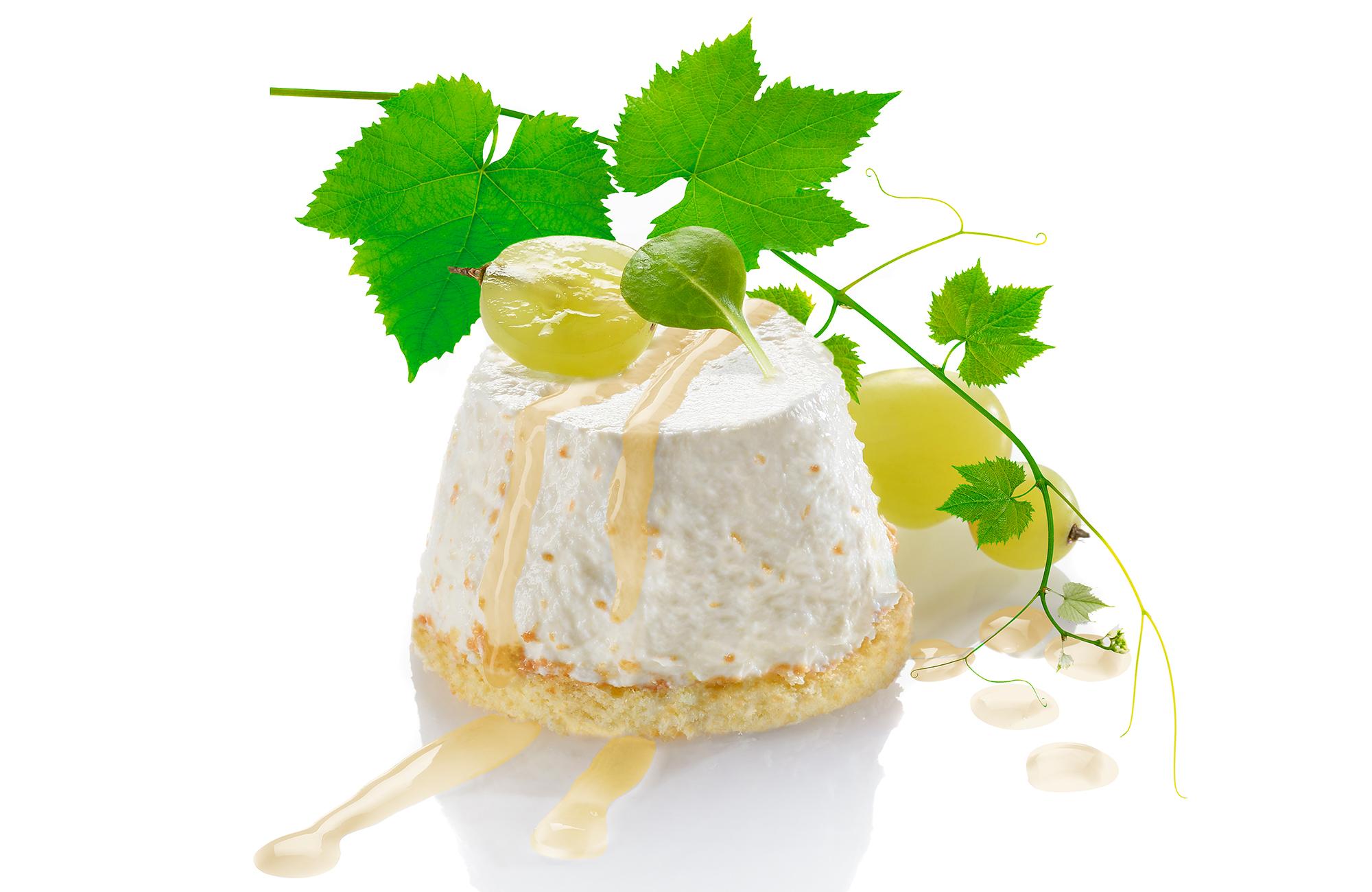 Mini cheesecake alla robiola e uva