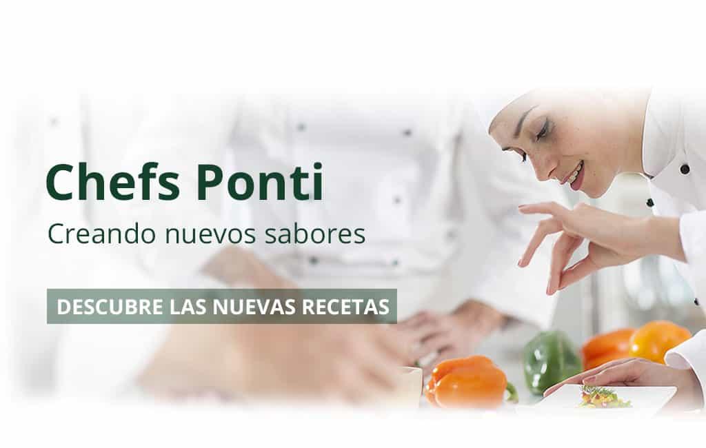 Descubre las nuevas recetas Ponti