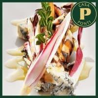 Gorgonzola sajt grillezett cikóriával