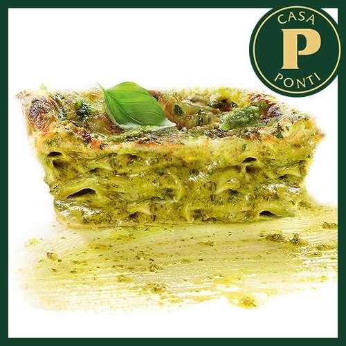 Lasagne Ponti zöld pesto-val