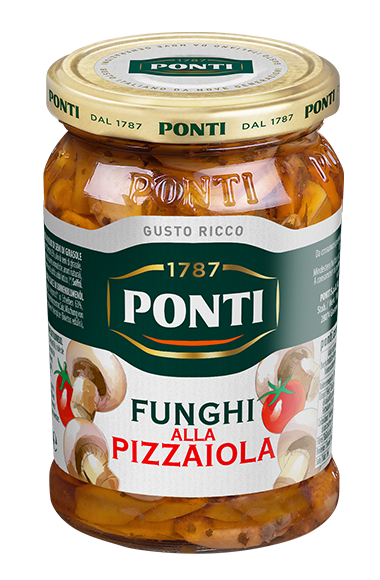 Pizza-flavoured Mushrooms - Ponti