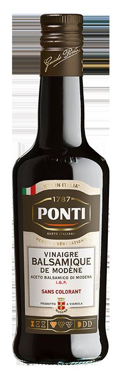 Vinaigre Balsamique de Modène I.G.P. sans colorant - Ponti