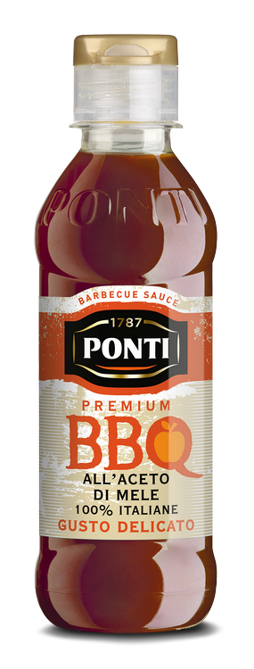 Barbecue sauce with 100% Italian Apple Cider Vinegar - Ponti