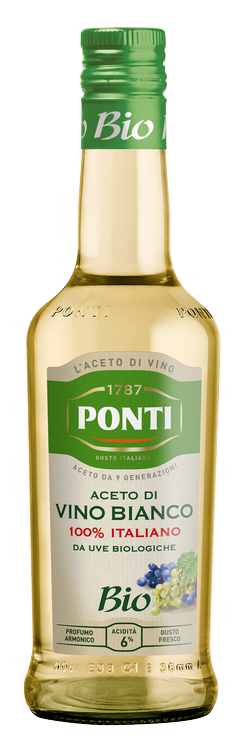 Sea weeds spaghetti noodles with clams and Ponti Organic White Wine Vinegar 100% Italian - Ponti