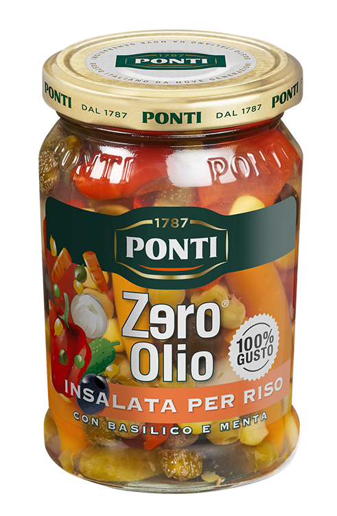 Zero Olio Cold Rice Salad Topping - Ponti