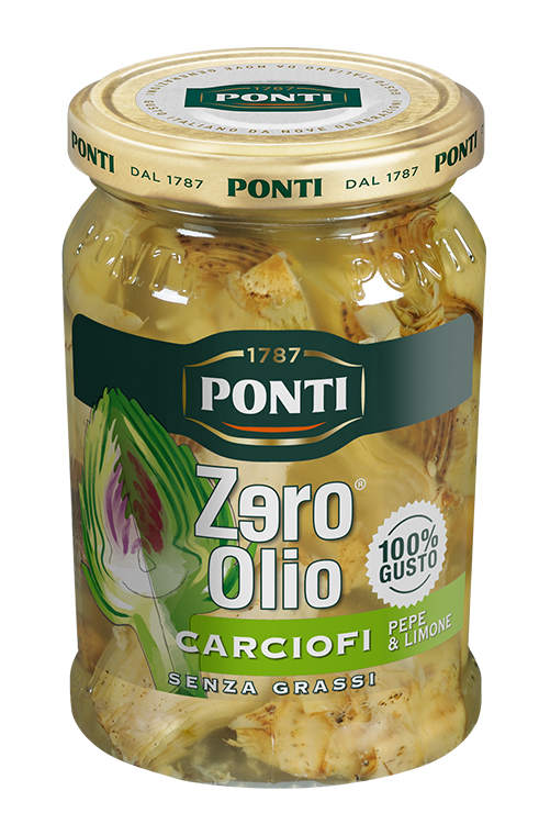 Pepper and Lemon Zero Olio Artichokes - Ponti