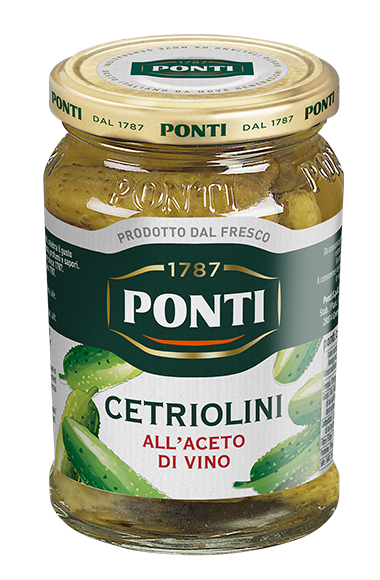 Gherkins in Wine Vinegar - Ponti