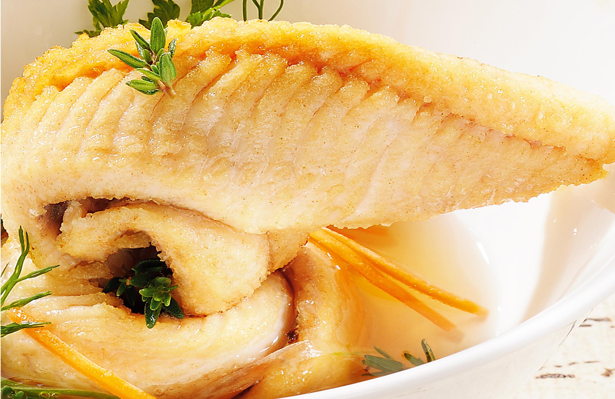 Carpione leggero di trota salmonata con Aceto di Vino Bianco Aromatizzato Erbe Fini Ponti