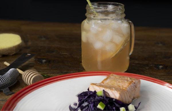 Cocktail detox con Aceto di Mele Ponti aromatizzato con miele Ambrosoli - Ponti