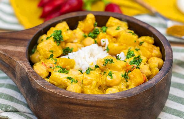 Curry di ceci e zucca con aceto di mele - Ponti