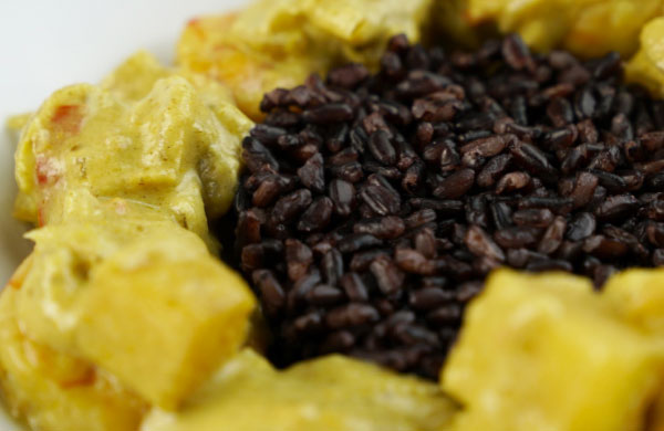 Curry di gamberi e ananas in Dolceagro - Ponti