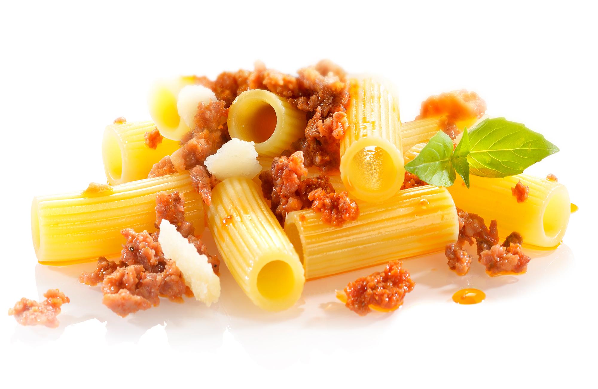 Eliche piccanti al Pesto Rosso Ponti con briciole di carne di vitello