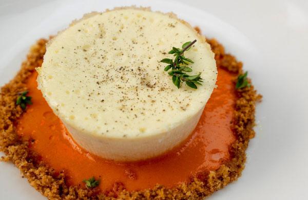 Flan di ricotta e salsa peperonata con DolceAgro di Mele 100% Italiane Ponti - Ponti