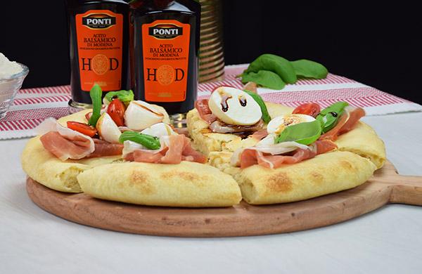 Focaccia gourmet fatta in casa con Aceto Balsamico di Modena I.G.P. Ponti Alta Densità - Ponti