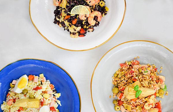 Insalata di riso Three Ways con Insalata per Riso Peperlizia e Insalata per Riso Light senza olio Peperlizia - Ponti