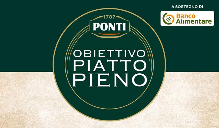 Con Obiettivo Piatto Pieno, Ponti sostiene il Banco Alimentare nella donazione di 500.000 pasti a chi è in difficoltà