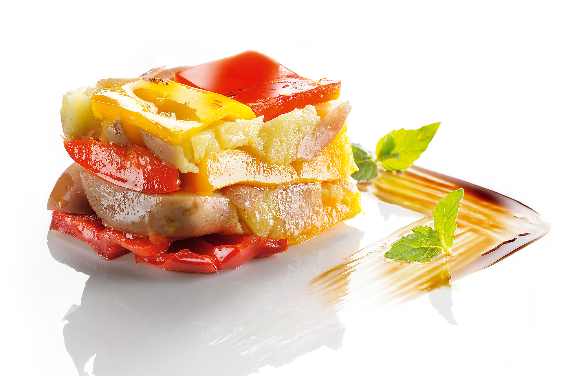 Zero Olio Grilled Peppers with potatoes timbale - Ponti