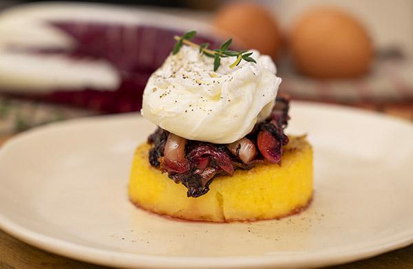 Polentina gratinata e uovo in camicia - Ponti