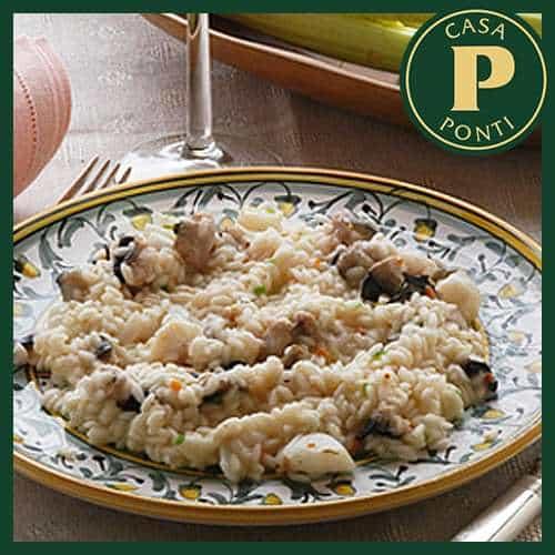Risotto al pollo e all'Aceto Balsamico di Modena IGP Ponti