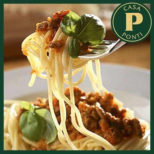 Spaghetti con ragù speciale all'Aceto Balsamico di Modena IGP Ponti