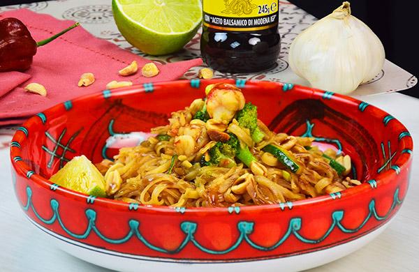 Tagliatelle di riso con verdure e Glassa Ponti allo Zenzero - Ponti