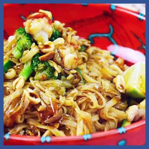 Tagliatelle di riso con verdure