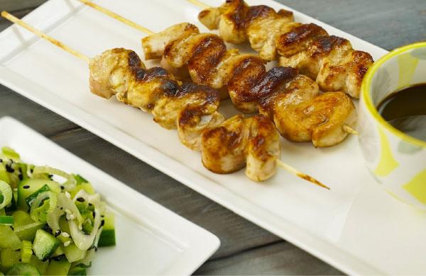 Spiedini di pollo marinati con Aceto Balsamico di Modena I.G.P. Ponti e Glassa Ponti alla Curcuma - Ponti